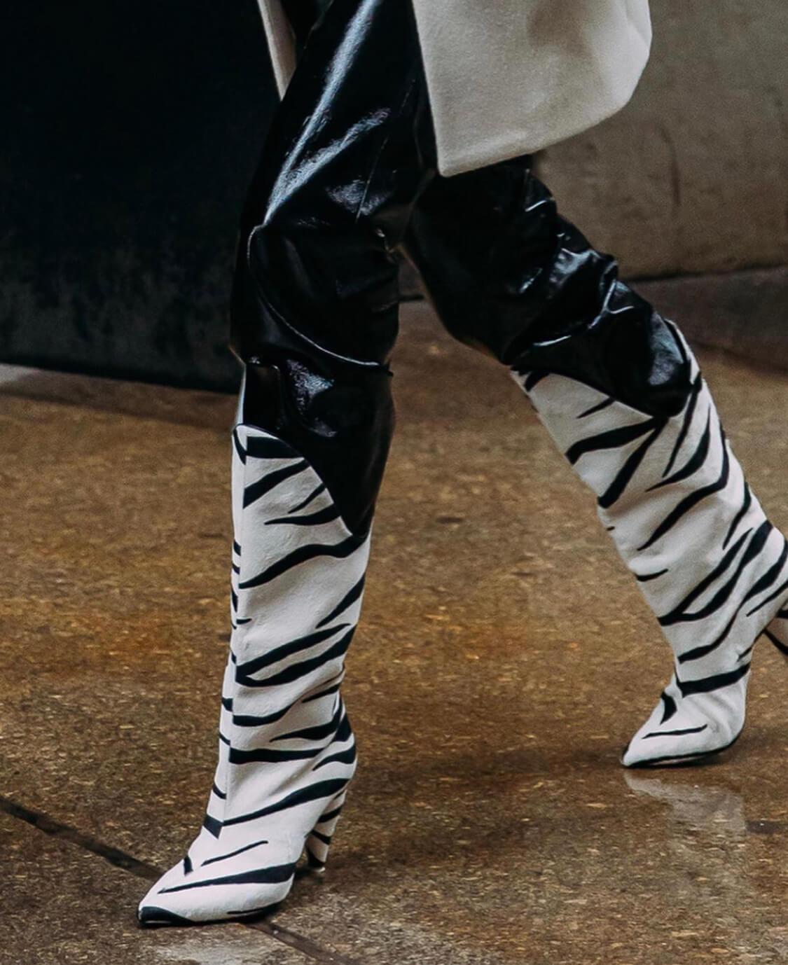 botas de cebra tendencia